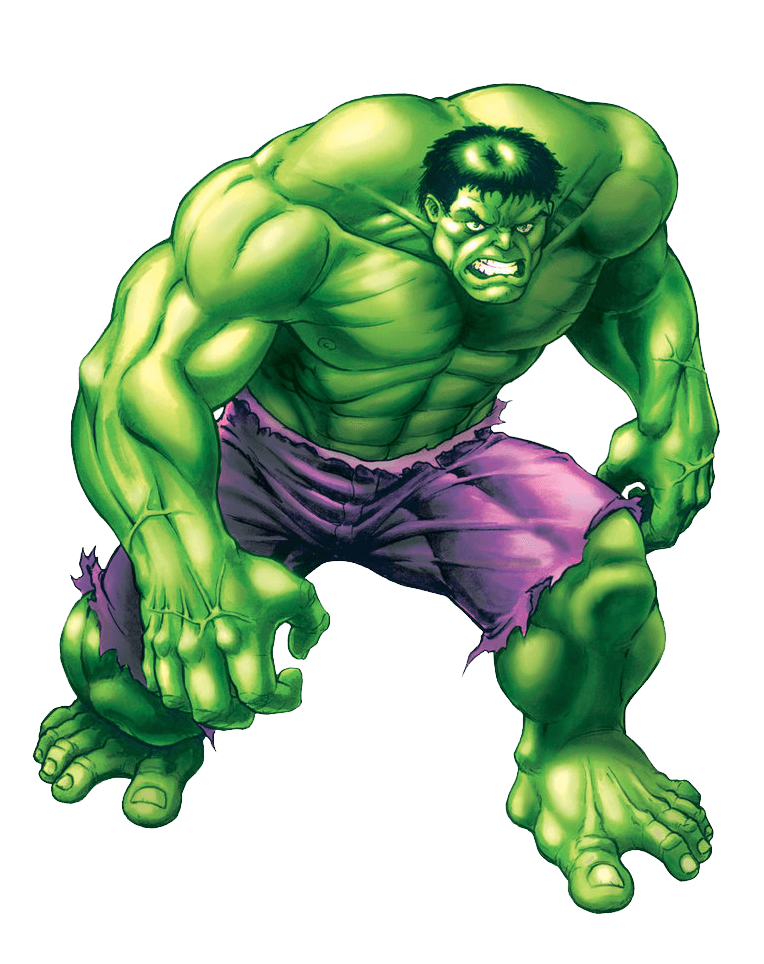 Angry Hulk clipart transparent