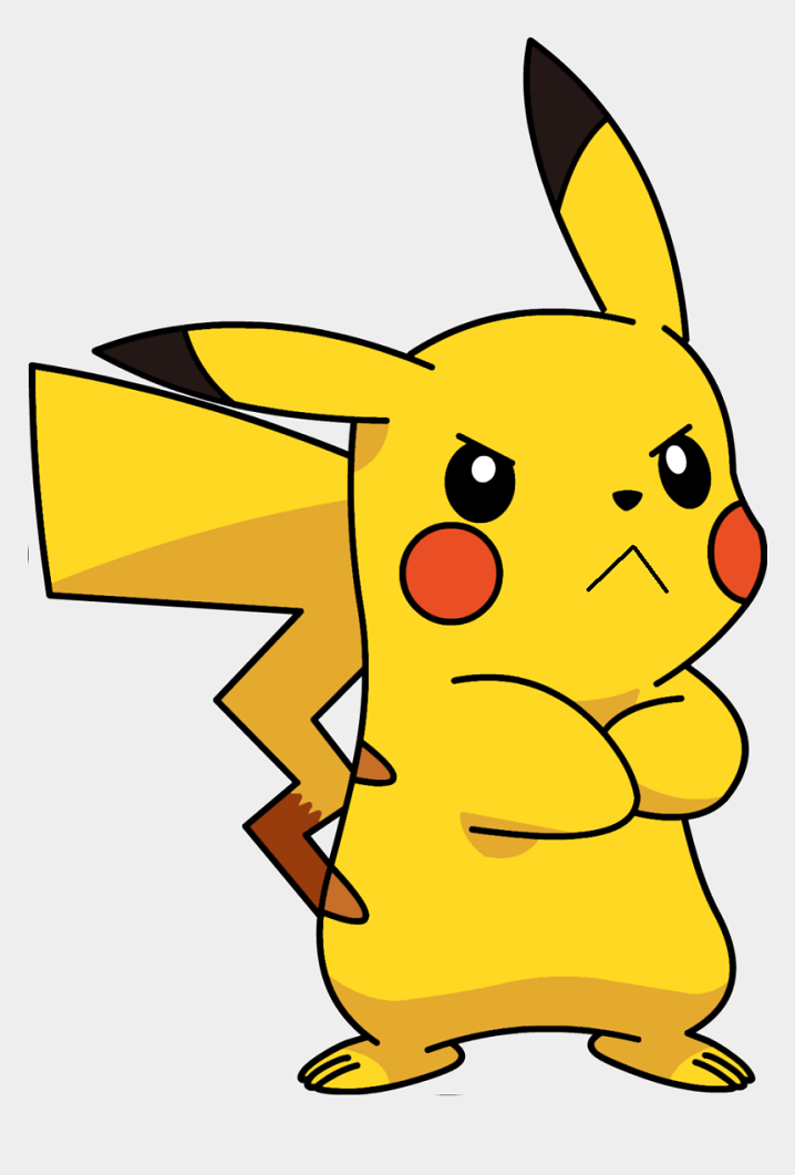 Angry Pikachu clipart