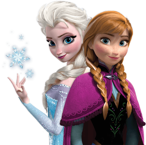 Anna and Elsa from Frozen clipart transparent