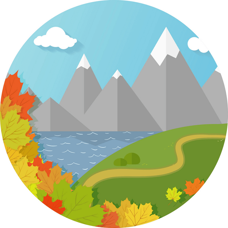 Autumn Mountains clipart