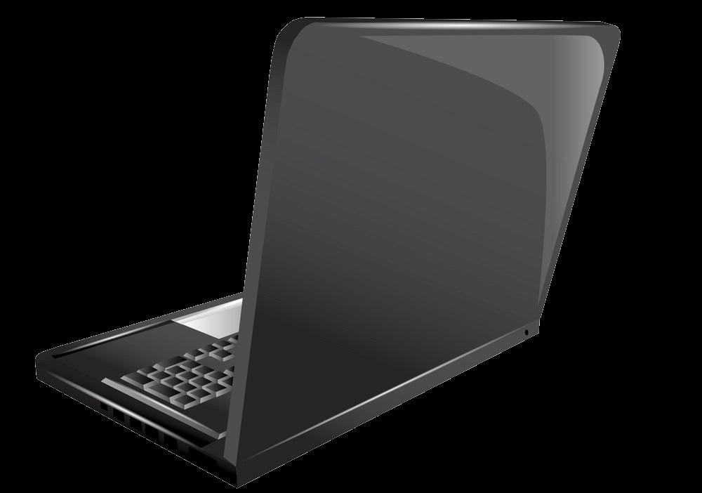 Black Laptop clipart transparent