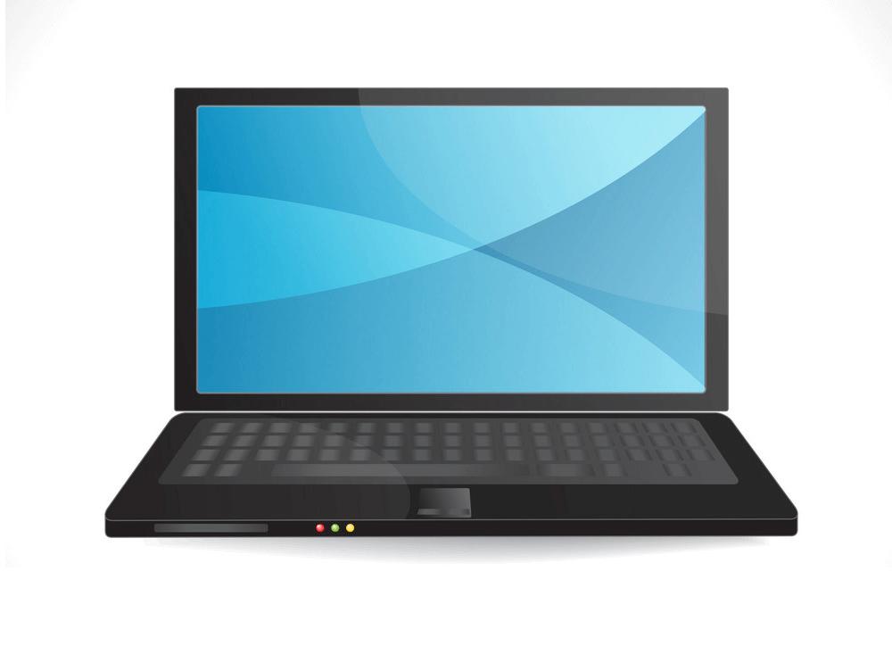 Black Laptop clipart
