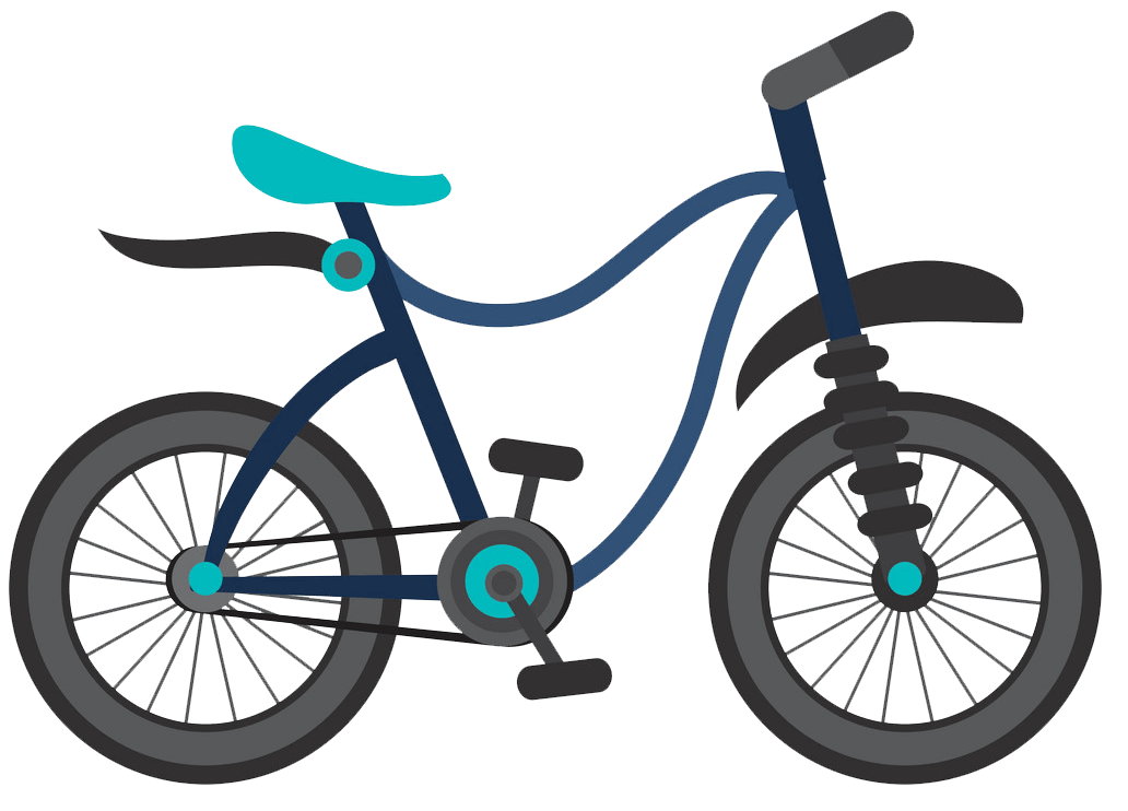 Blue Bike clipart transparent