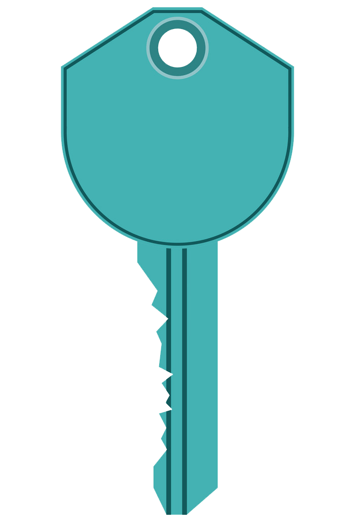 Blue Key clipart transparent