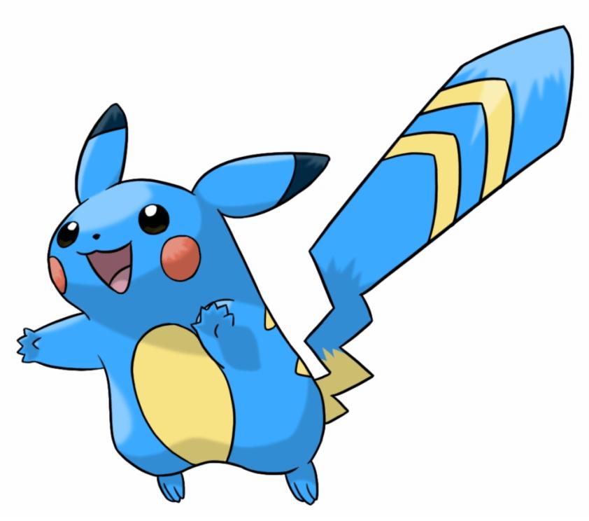Blue Pikachu clipart