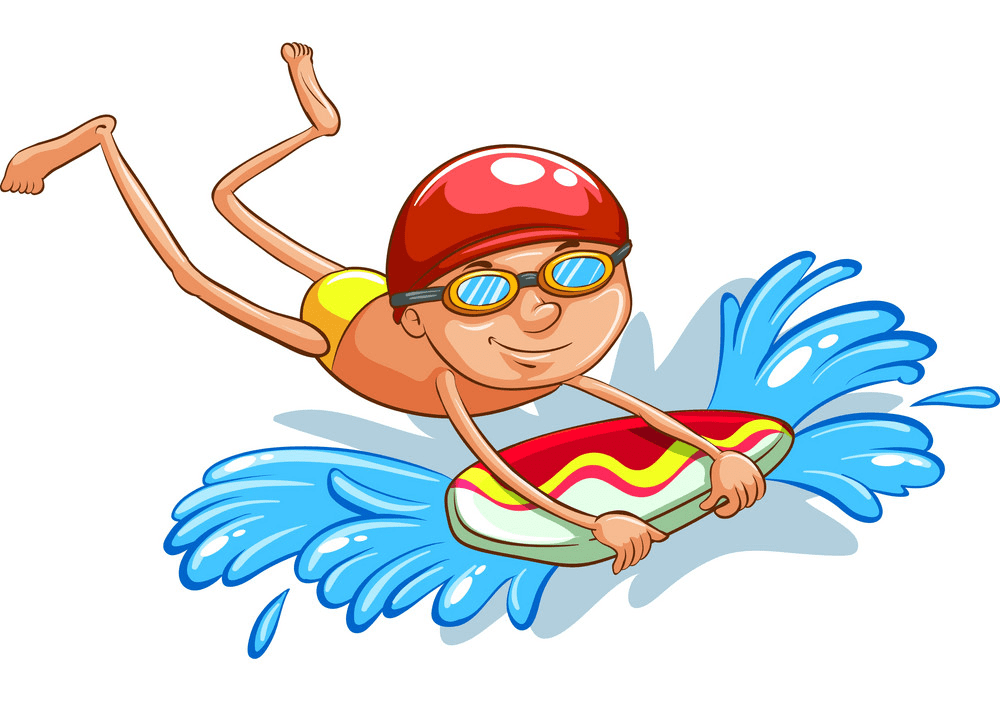 Boy Swimming clipart 1