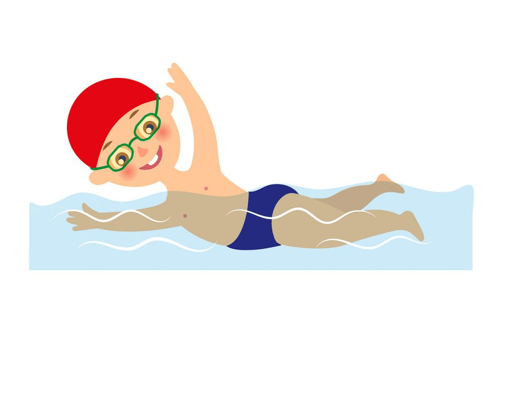 Boy Swimming clipart 3