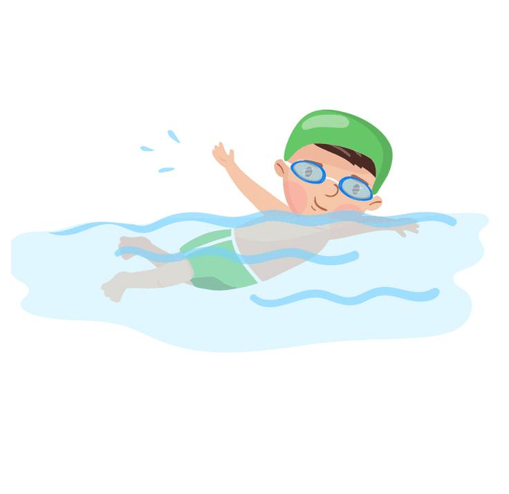 Boy Swimming clipart 6