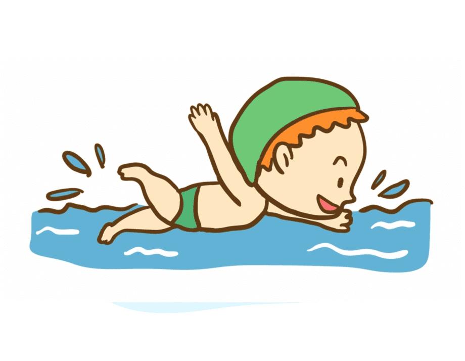 Boy Swimming clipart 7