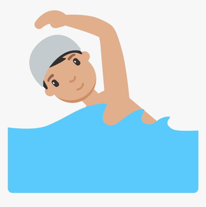 Boy Swimming clipart 8