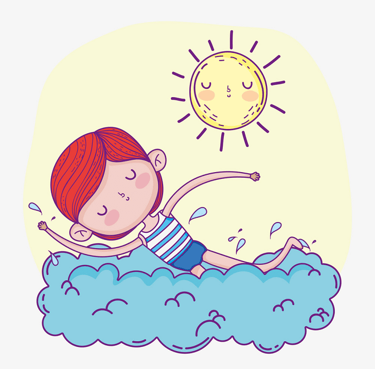 Boy Swimming clipart for free