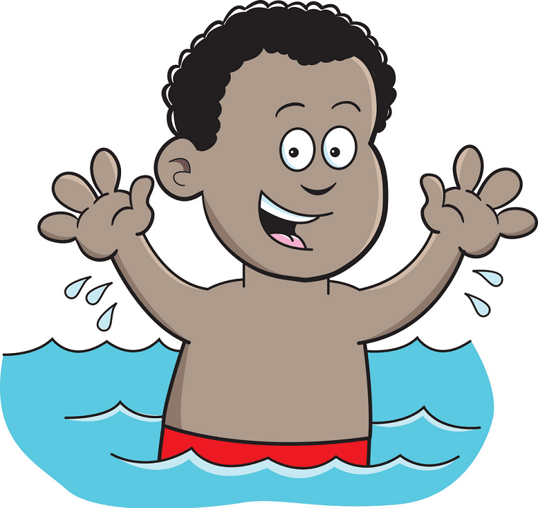 Boy Swimming clipart free image