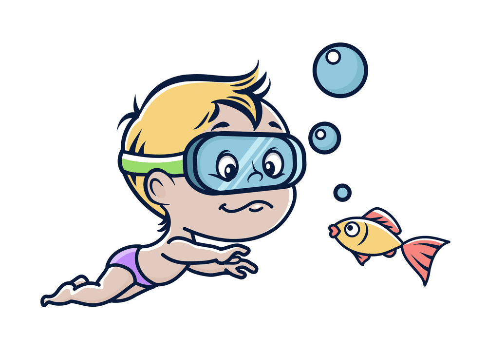 Boy Swimming clipart free images