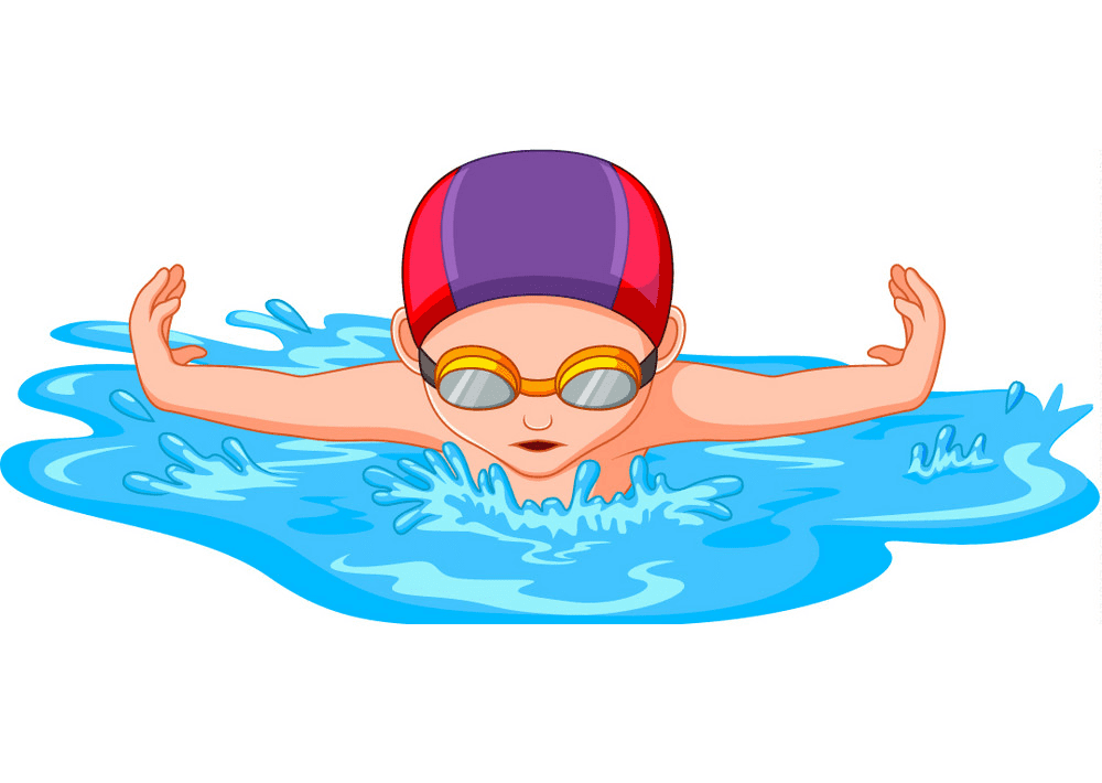 Boy Swimming clipart image