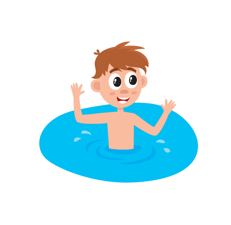 Boy Swimming clipart images