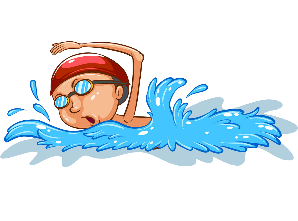 Boy Swimming clipart transparent 1