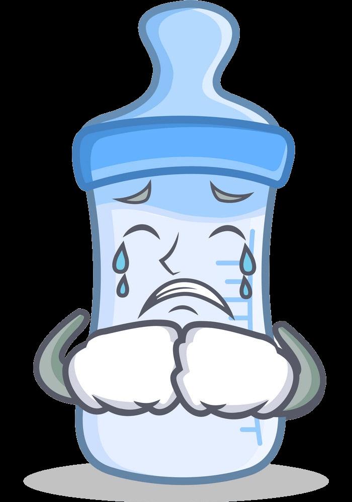 Cartoon Baby Bottle clipart transparent 1