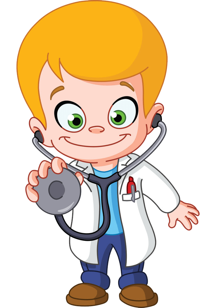 Cartoon Doctor clipart transparent
