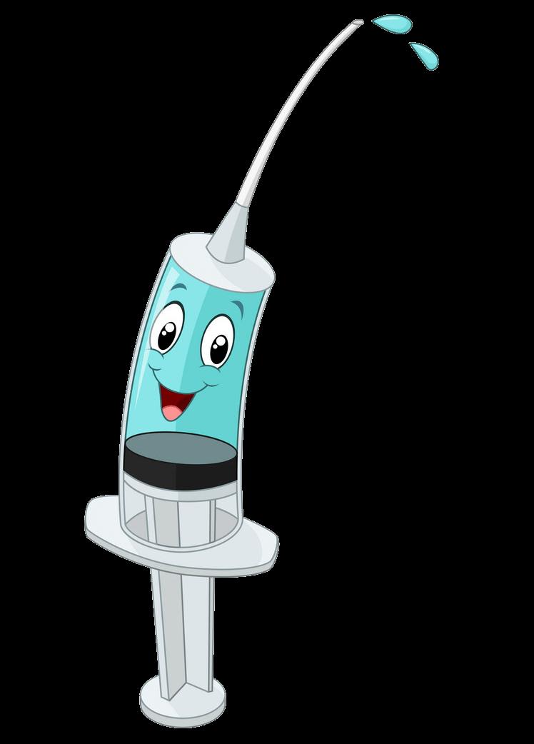 Cartoon Syringe clipart transparent