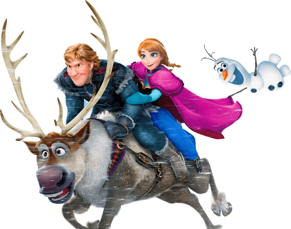 Characters from Frozen clipart 1