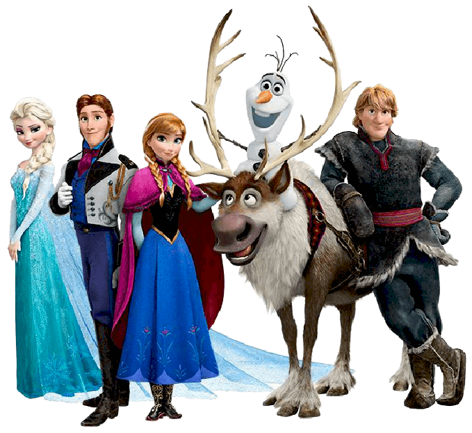 Characters from Frozen clipart transparent