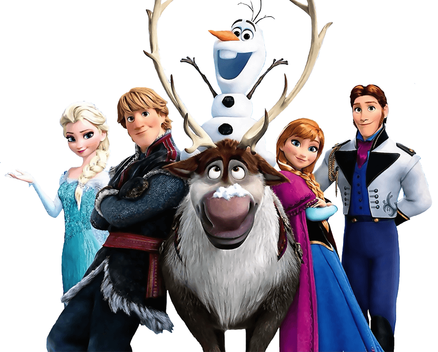 Characters from Frozen clipart