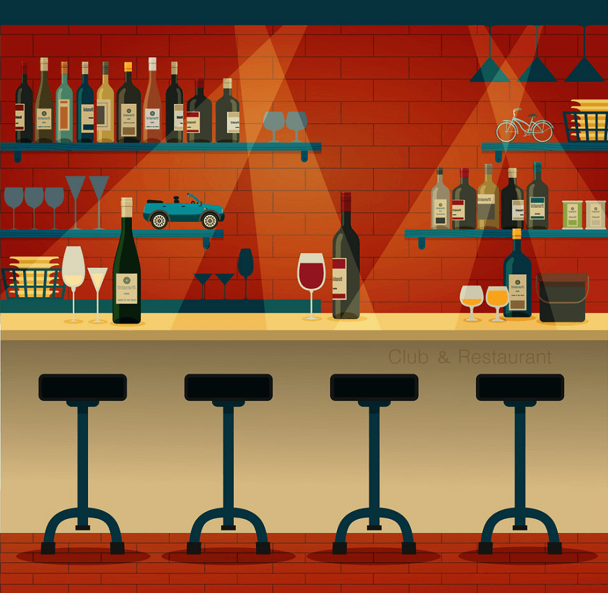 Club Restaurant clipart