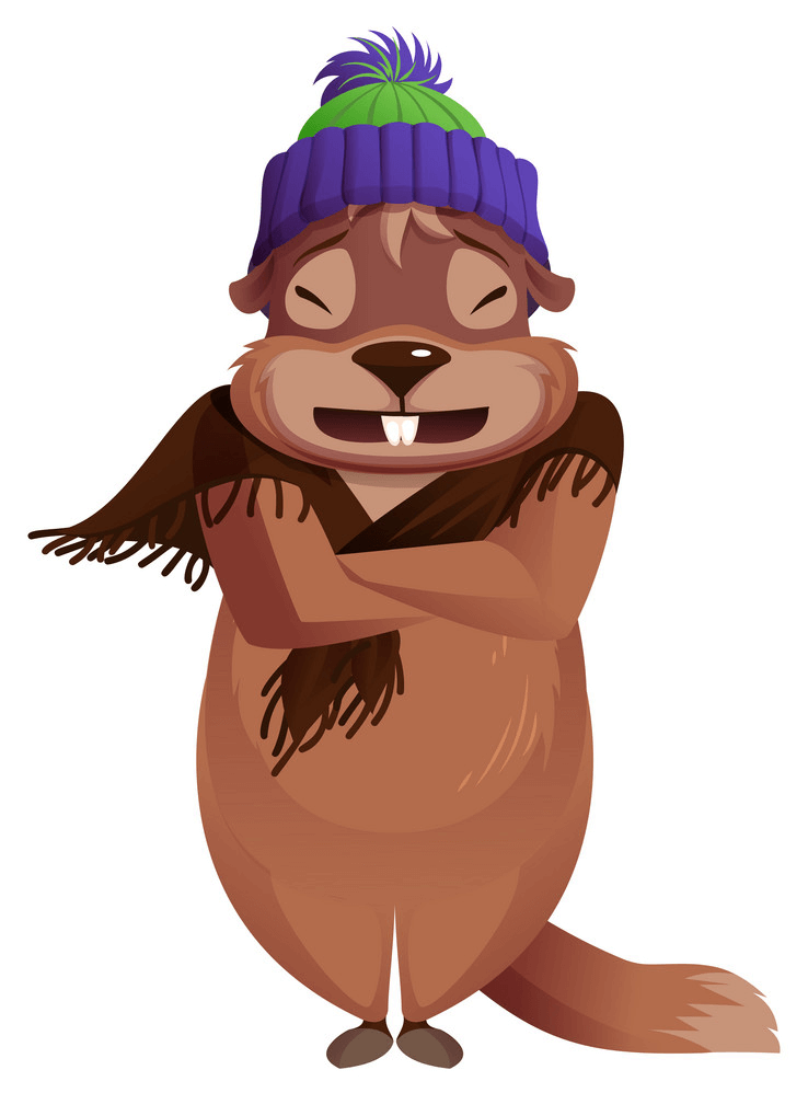 Cold Groundhog clipart