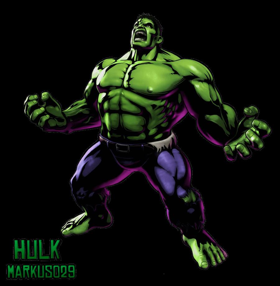 Comic Hulk clipart transparent