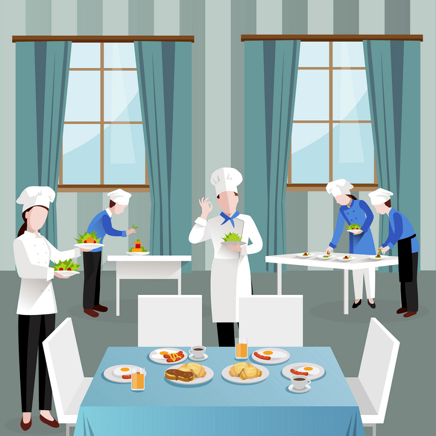 Cooking in Restaurant clipart