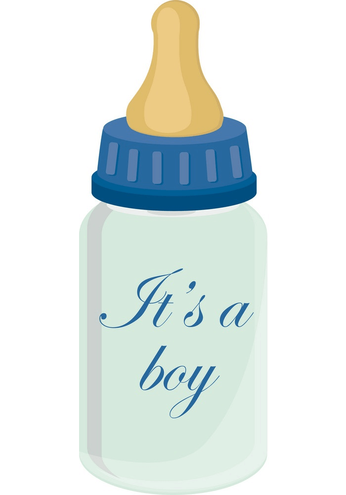 Cute Baby Bottle clipart
