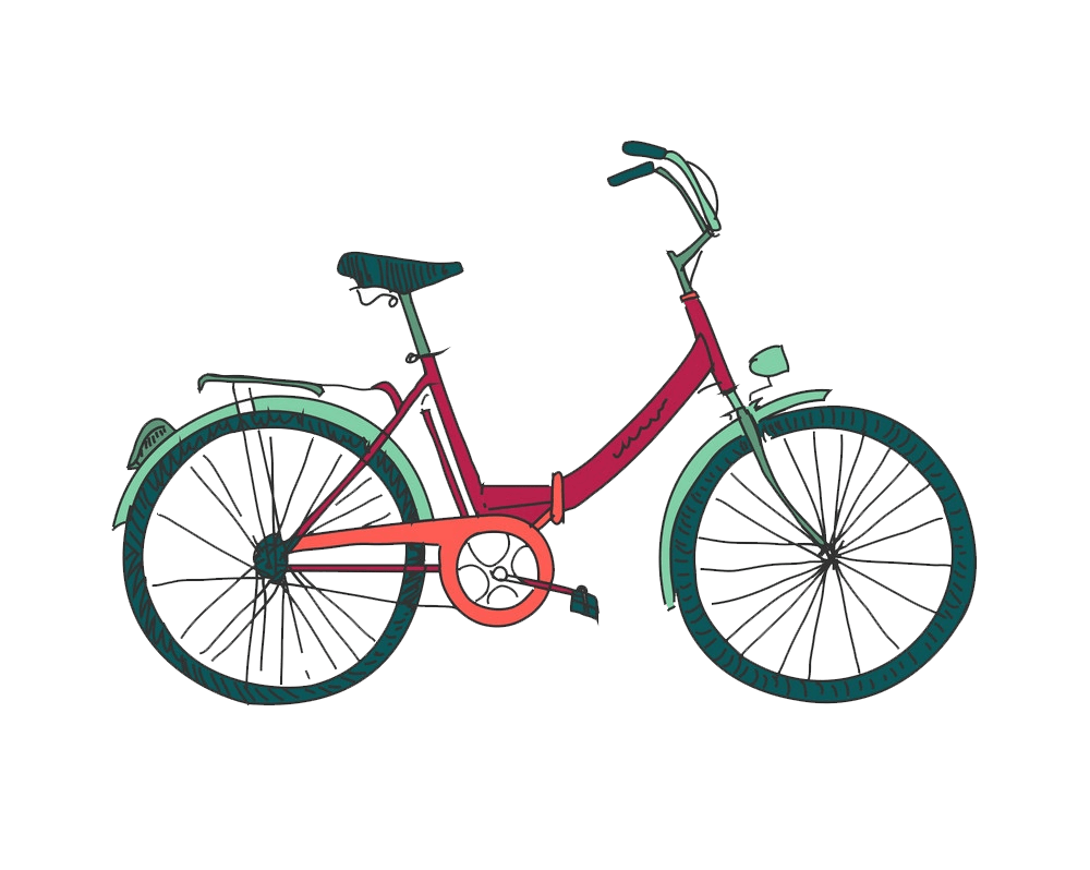 Cute Bike clipart