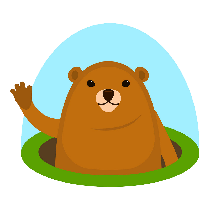 Cute Groundhog clipart transparent