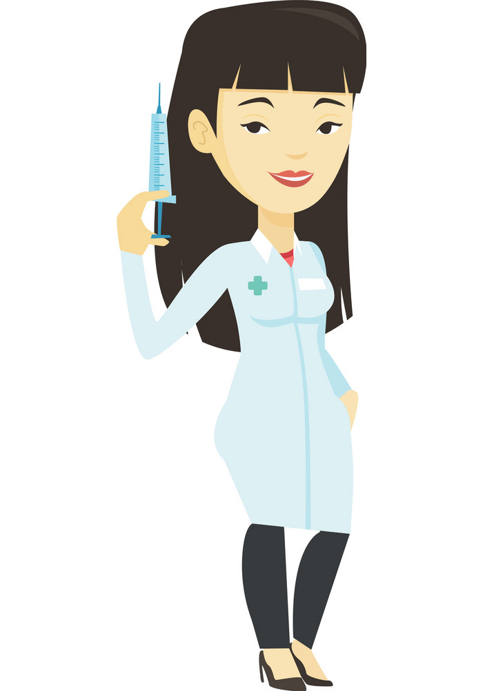 Doctor with Syringe clipart