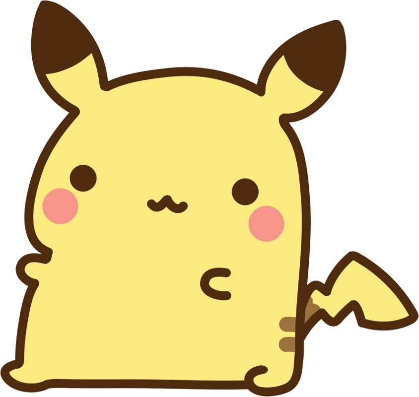 Fat Pikachu clipart