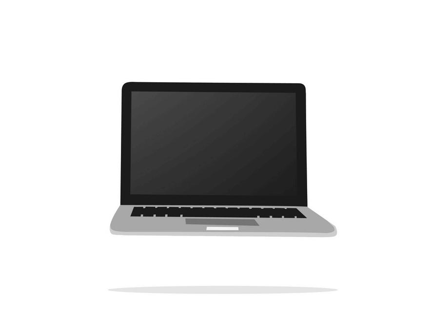 Flat Design Laptop clipart