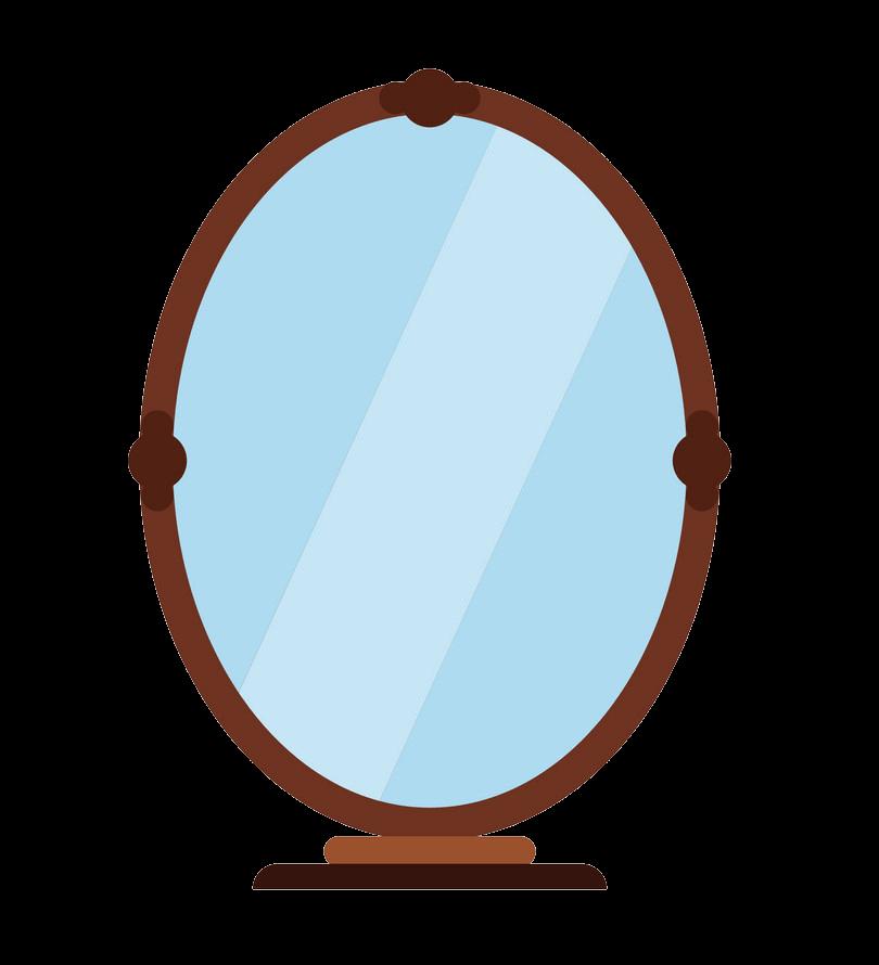 Flat Icon Mirror clipart transparent