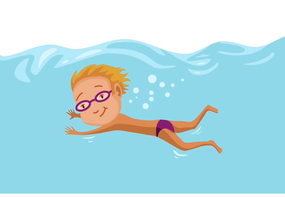 Free Boy Swimming clipart image
