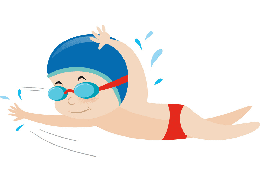 Free Boy Swimming clipart png image