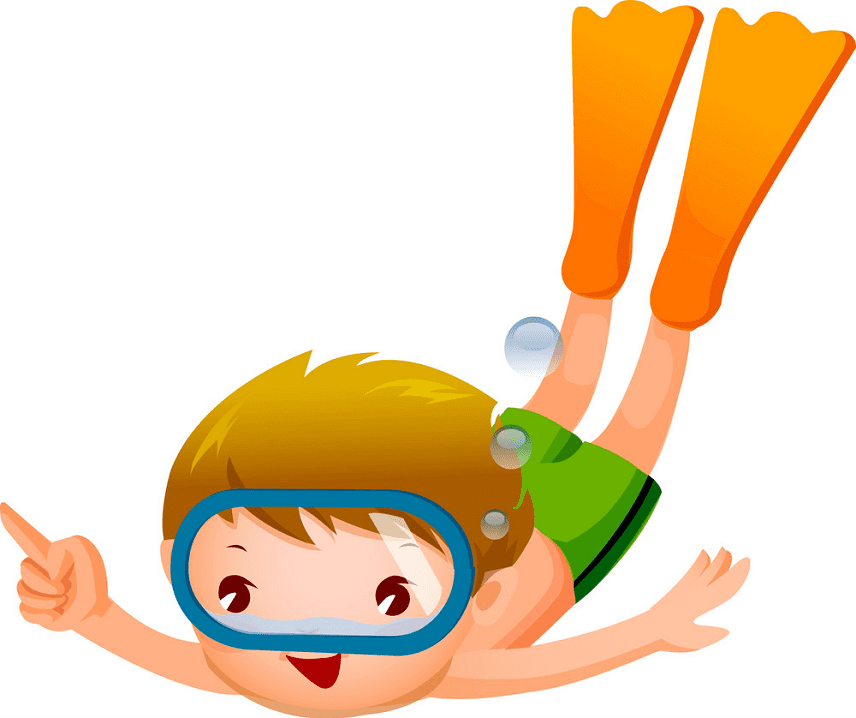 Free Boy Swimming clipart png