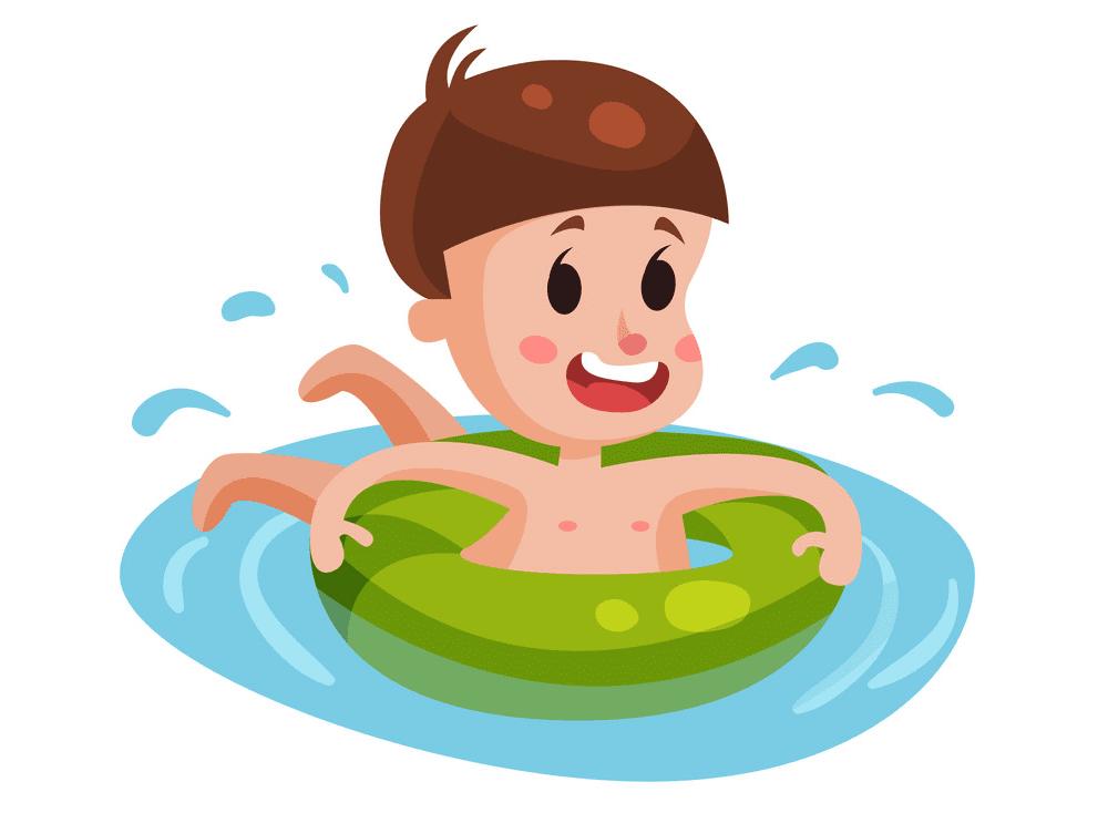 Free Boy Swimming clipart