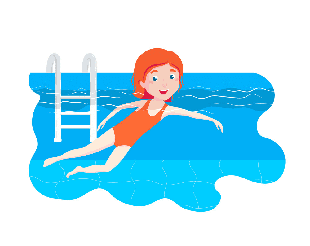 Free Girl Swimming clipart