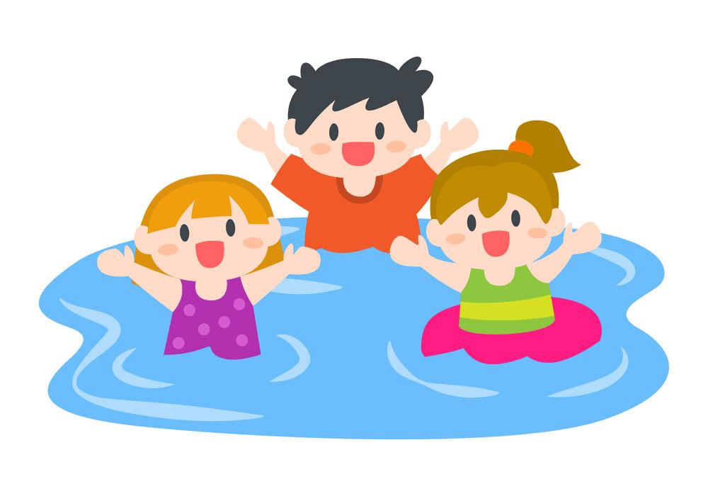 Free Kids Swimming clipart