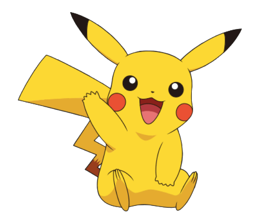 Friendly Pikachu clipart transparent