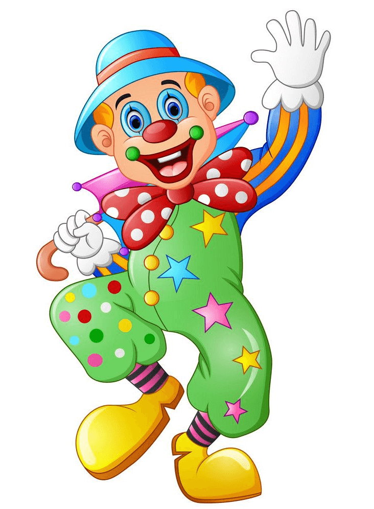 Funny Clown clipart