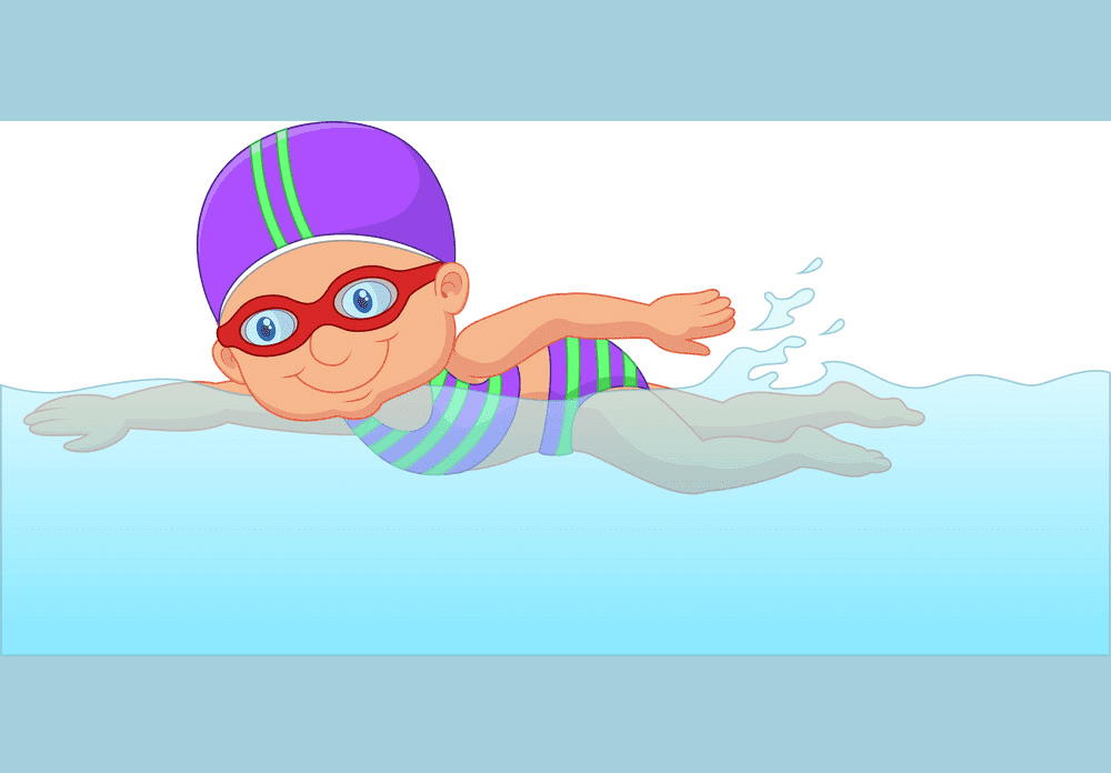 Girl Swimming clipart 1