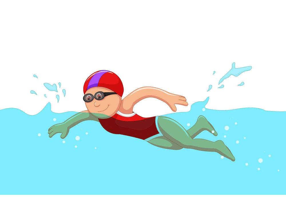 Girl Swimming clipart 2