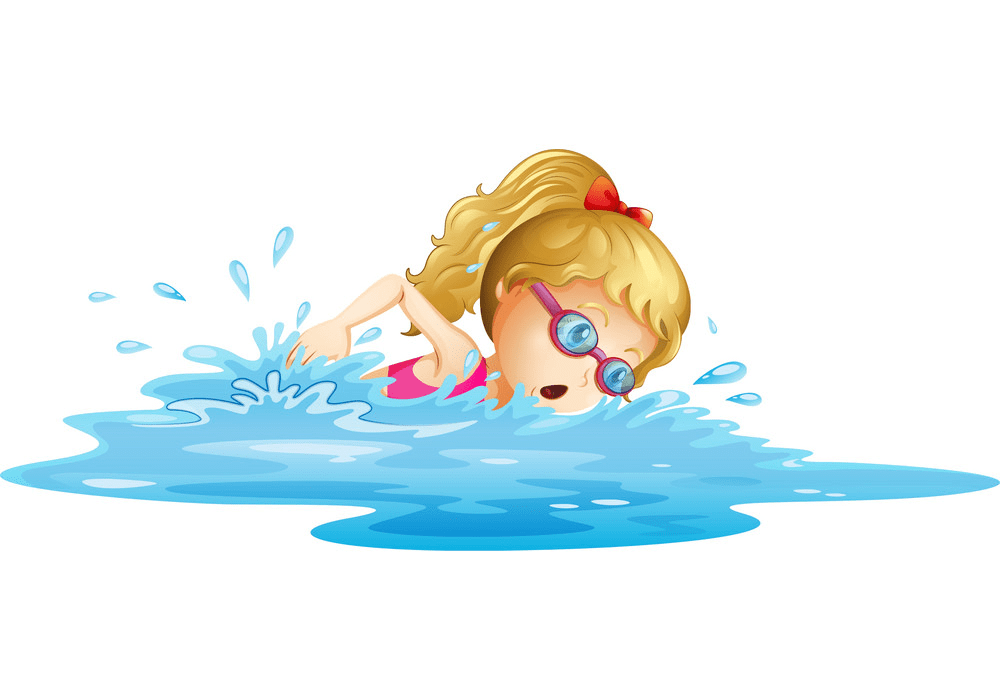 Girl Swimming clipart free