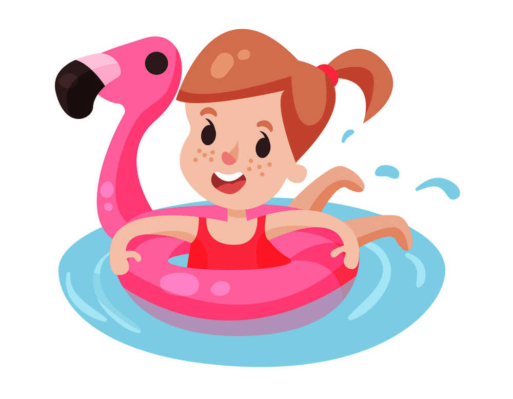 Girl Swimming clipart images