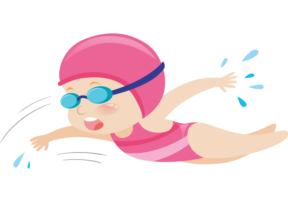 Girl Swimming clipart png free